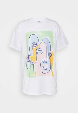 ABSTRACT ART GRAPHIC UNISEX - Print T-shirt - white/green