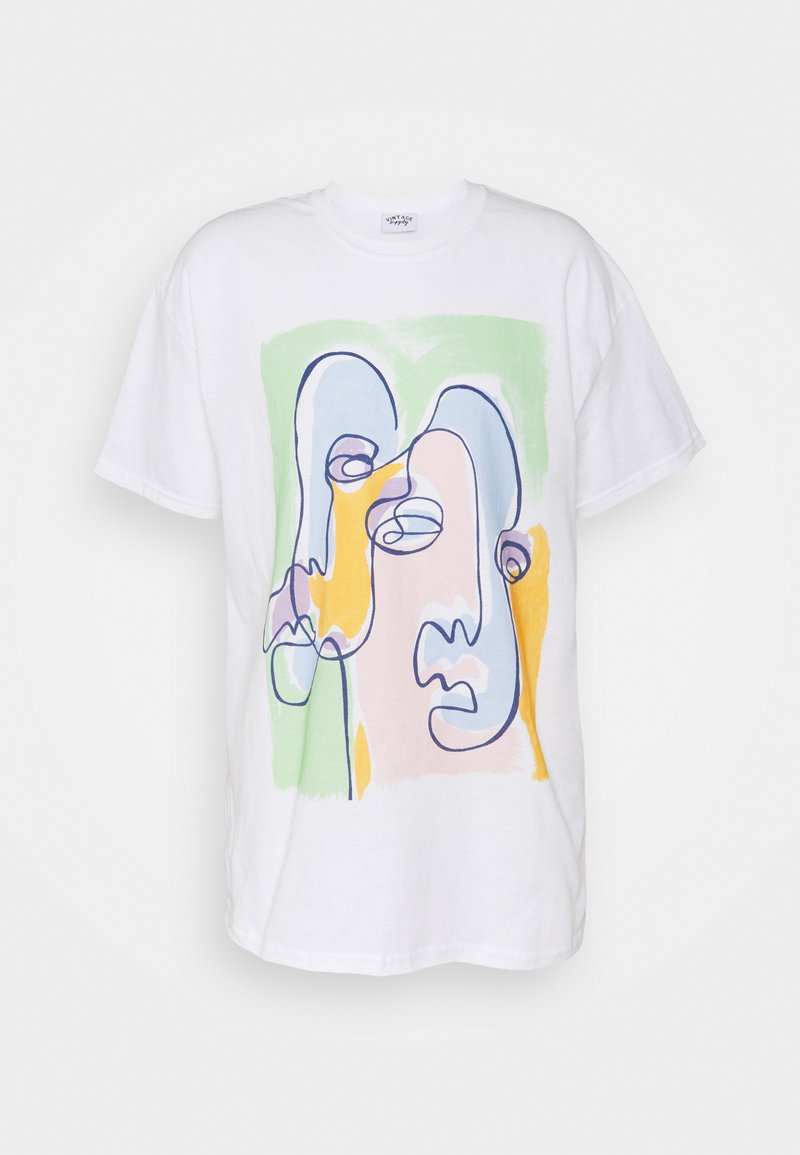Vintage Supply - ABSTRACT ART GRAPHIC UNISEX - Print T-shirt - white/green