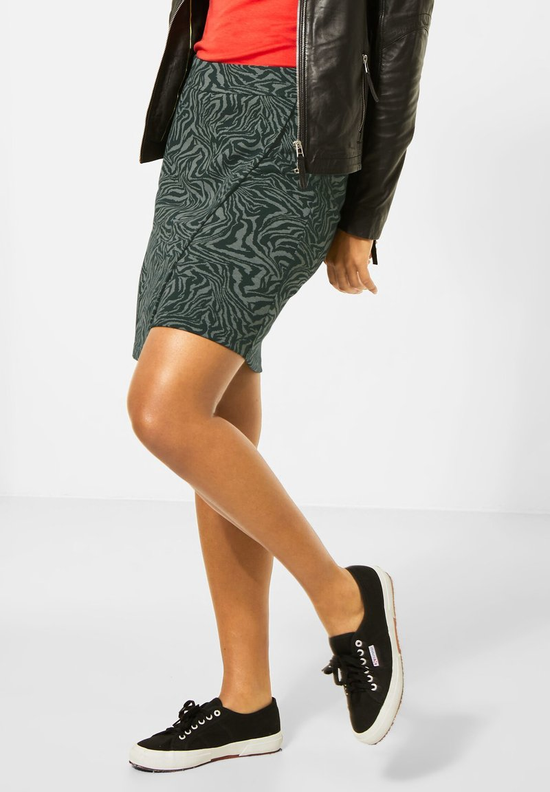 Street One - ZEBRA ROCK  - Wrap skirt - grün