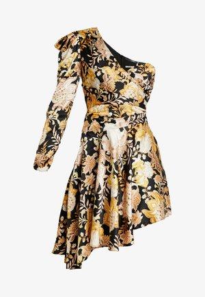 ROMA WRAP ONE SHOULDER DRESS - Robe de soirée - black/gold chateau