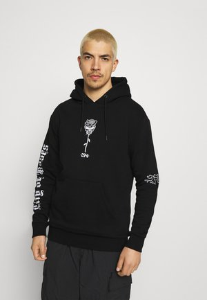SKULL ROSE HOODIE - Sweater - black