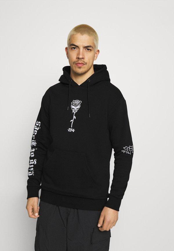 274 SKULL ROSE HOODIE - Bluza - black/czarny Odzież Męska CCUX