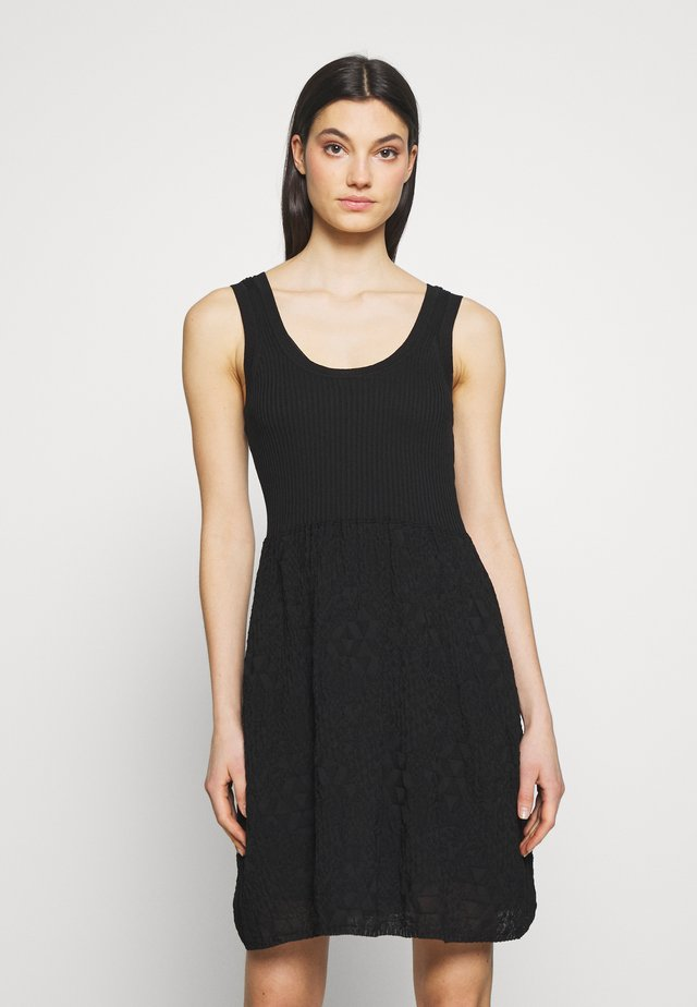 SLEEVES DRESS - Jumper dress - black
