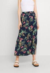Vero Moda - VMSIMPLY EASY SKIRT - Maxi skirt - navy blazer - 0
