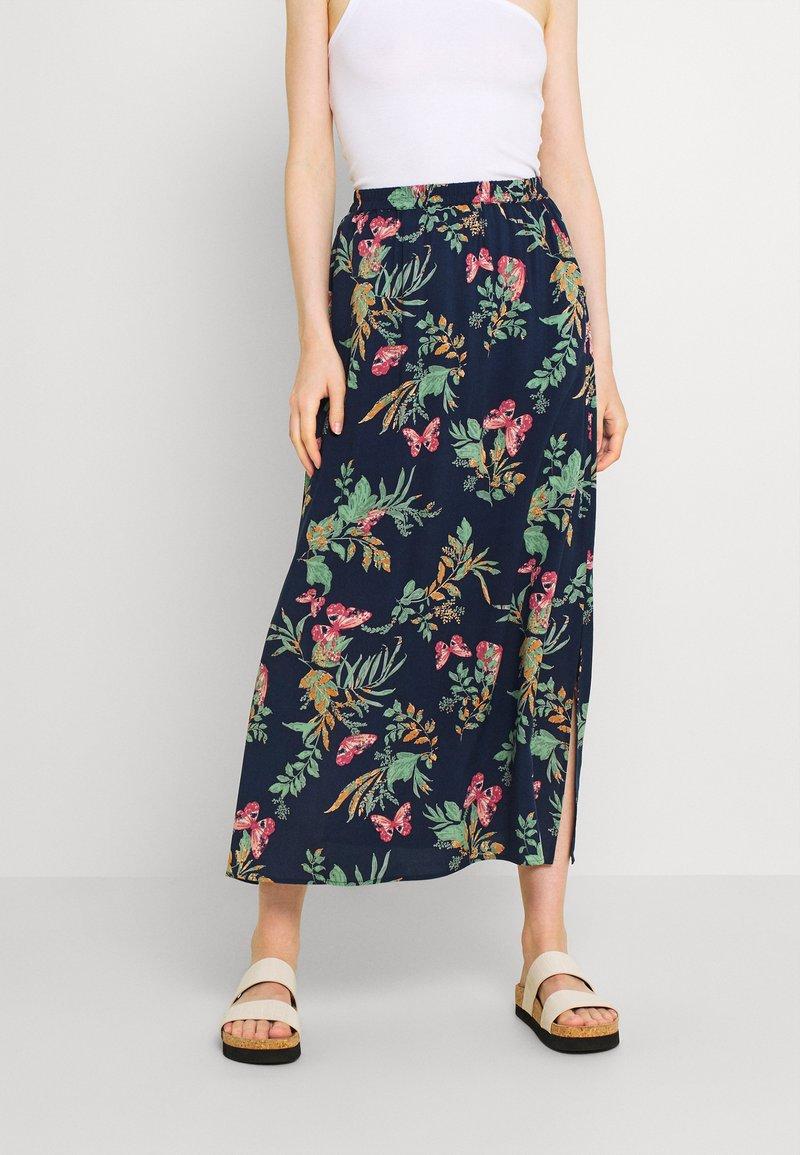 Vero Moda - VMSIMPLY EASY SKIRT - Maxi skirt - navy blazer