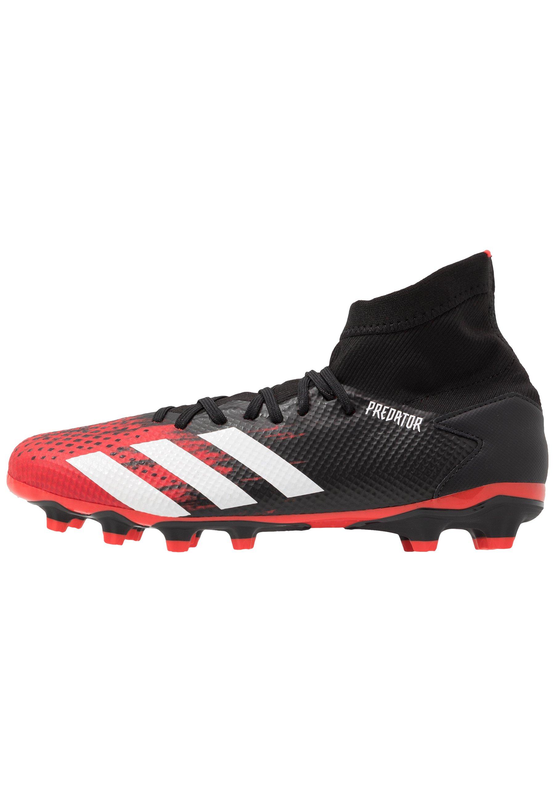 adidas Performance PREDATOR 20.3 FG - Fotballsko - core black/footwear white/active red