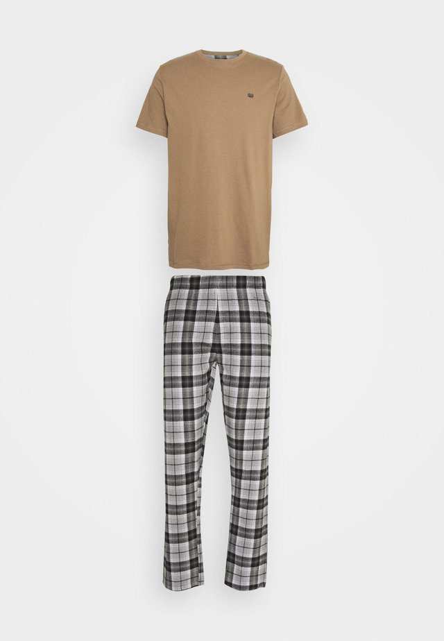 TONAL CHECK - Pyjamas - black