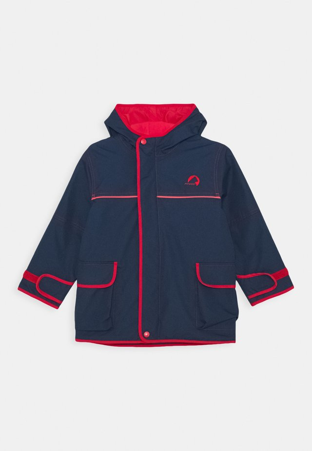 TUULIS - Giacca hard shell - navy/red