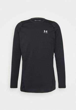 FITTED CREW - Koszulka sportowa - black