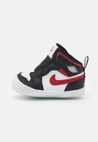 Jordan - 1 CRIB UNISEX - Sports shoes - black/gym red/white - 0