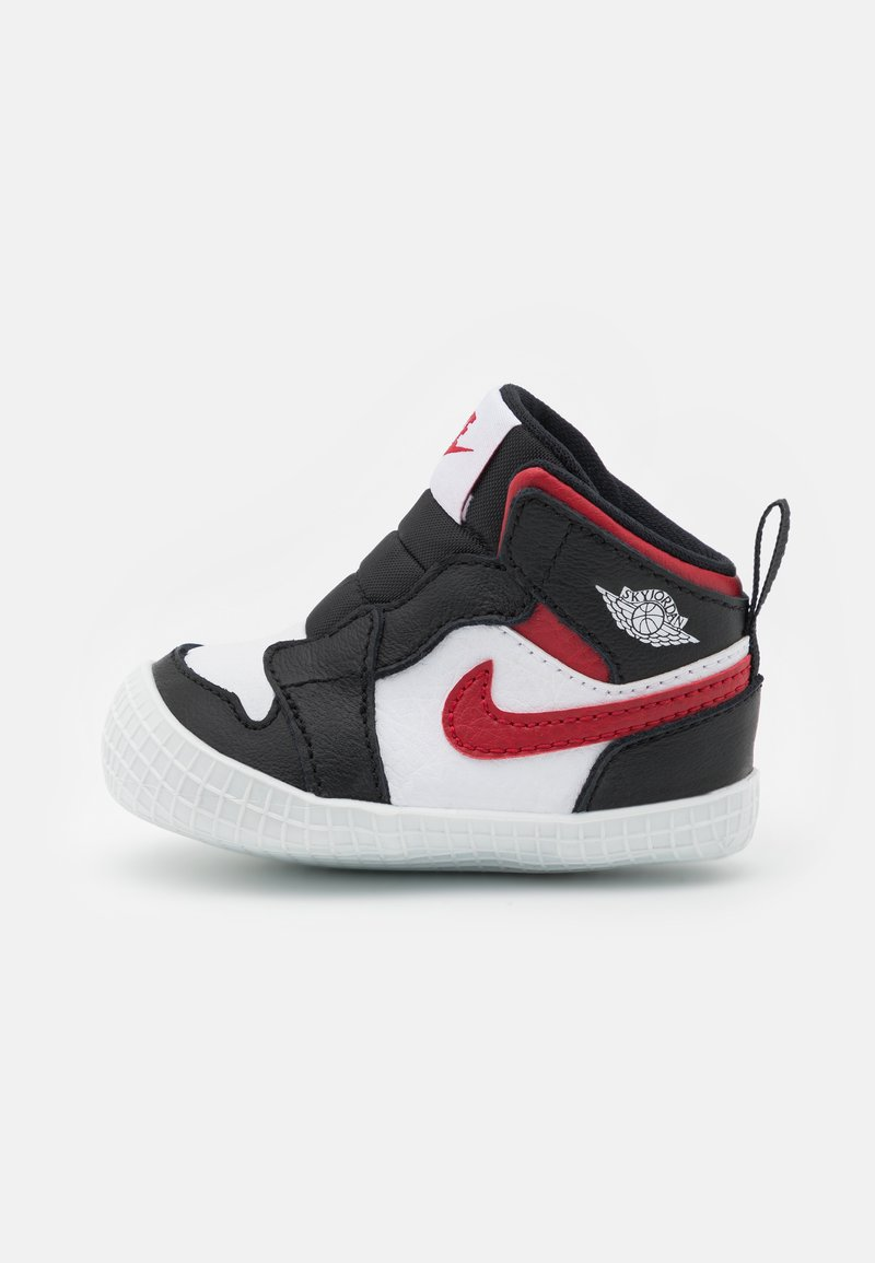 Jordan - 1 CRIB UNISEX - Sports shoes - black/gym red/white