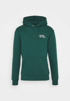 HOODIE LA VIE EN VERT UNISEX - Bluza z kapturem - green white
