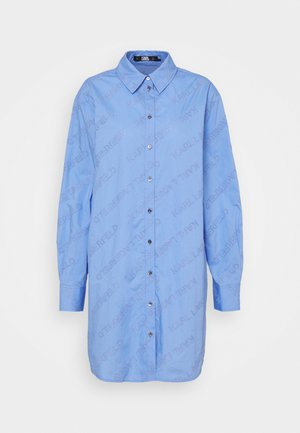 LOGO EMBROIDERED TUNIC SHIRT - Tunique - bluebell