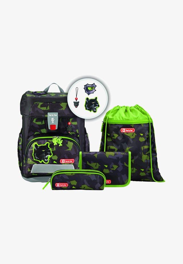 SET 5TLG - Backpack - black cat