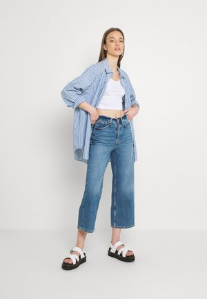 KRISTY CROP 2 PACK - Top - white/blue