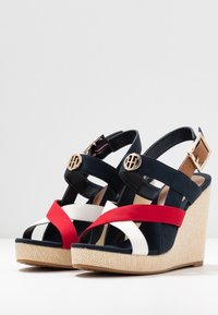 Tommy Hilfiger - ELENA - High heeled sandals - red/white/blue - 4