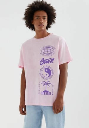 STWD - T-shirt con stampa - mottled light pink