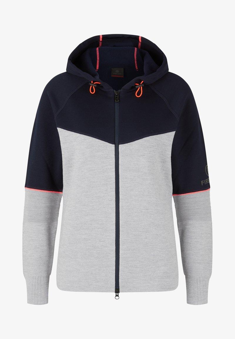Bogner Fire + Ice - Zip-up sweatshirt - hellgrau/navy-blau