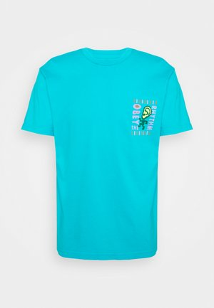 THE RHYTHM - Print T-shirt - aqua
