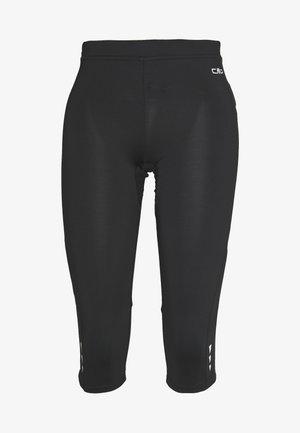 WOMAN PANT - 3/4 sports trousers - black asphalt