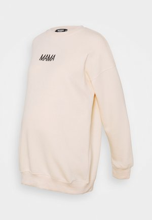 MATERNITY MAMA - Sweatshirt - cream