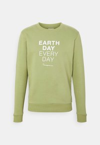 KnowledgeCotton Apparel - EARTHDAY EVERYDAY TEXT CREW NECK - Sweater - sage - 3