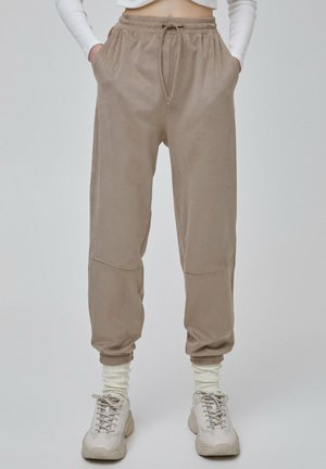 Tracksuit bottoms - beige