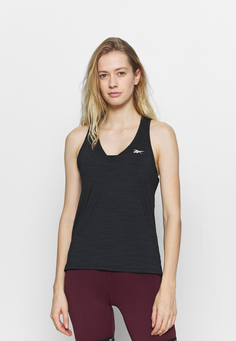Reebok - ATHLETIC TANK - Sportshirt - black
