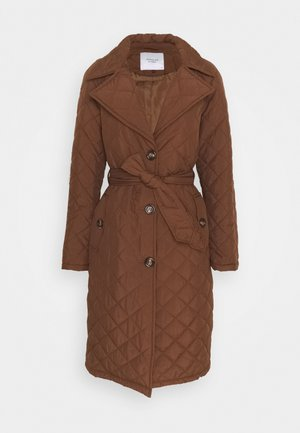 JDYTORA LONG QUILT  - Trenchcoats - pinecone