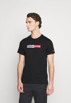 METALLIC GRAPHIC TEE - Print T-shirt - black