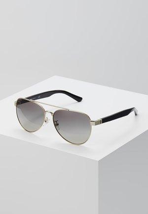 Sunglasses - shiny light gold-coloured