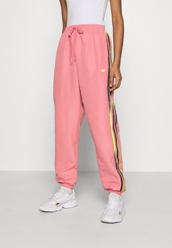 PANTS - Pantalones deportivos - hazy rose/acid yellow/black