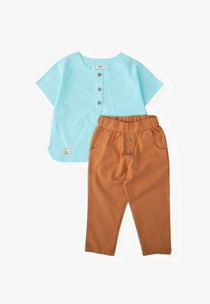 SET - Trousers - turquoise