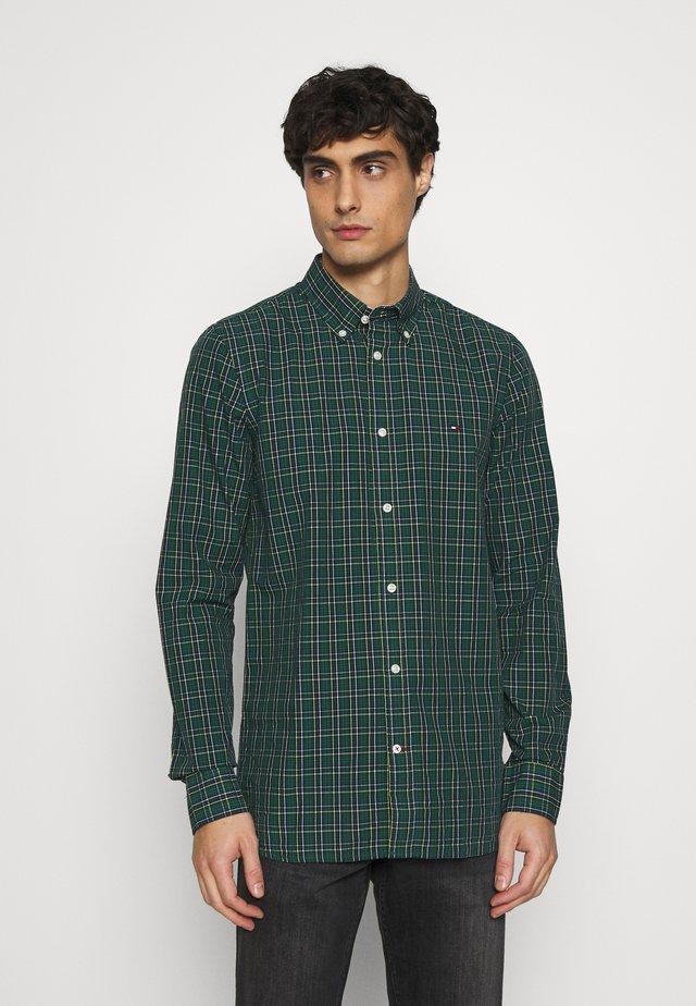 SLIM SMALL TARTAN CHECK - Shirt - green