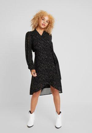 SLFANYA WRAP DRESS - Day dress - black