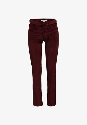 FASHION  - Trousers - bordeaux red