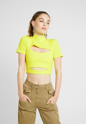 BECCA - Triko spotiskem - neon yellow