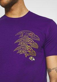 Fanatics - NFL BALTIMORE RAVENS CHAIN CORE GRAPHIC - Club wear - purple - 5
