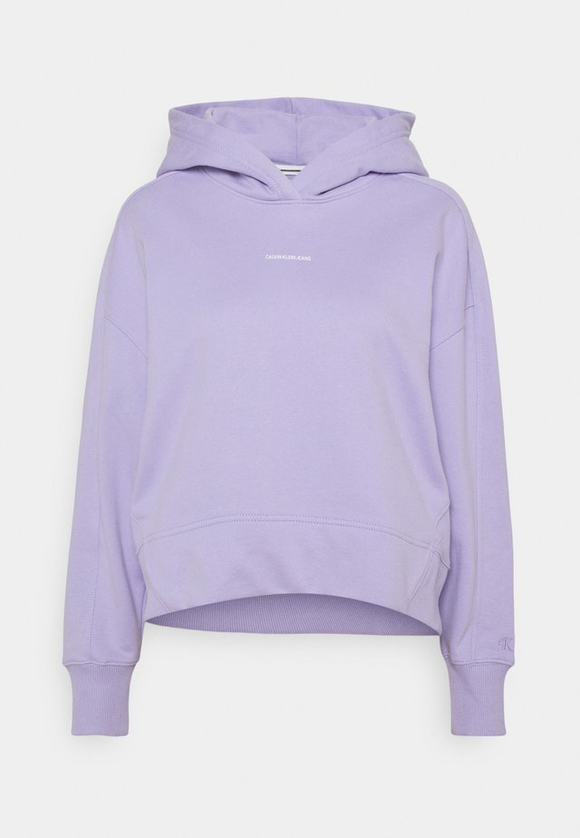 MICRO BRANDING HOODIE - Sweatshirt - palma lilac