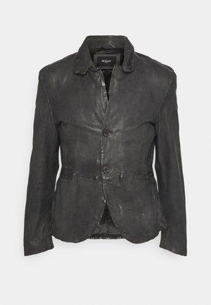LOGAN - Kožená bunda - anthra