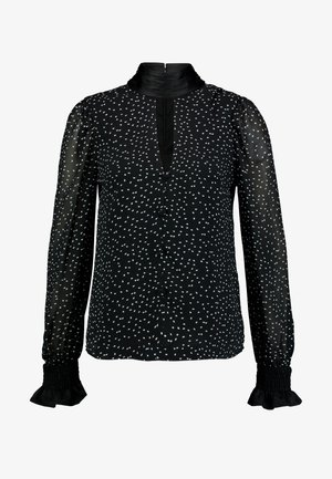 SPOT HIGH NECK BLOUSE - Bluser - black