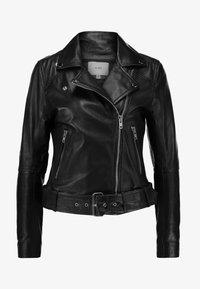 SATORI - Leather jacket - black