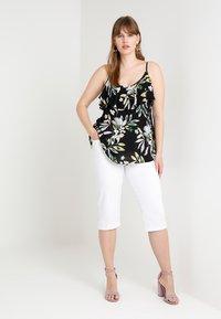 Zizzi - EMILY - Denim shorts - bright white - 1