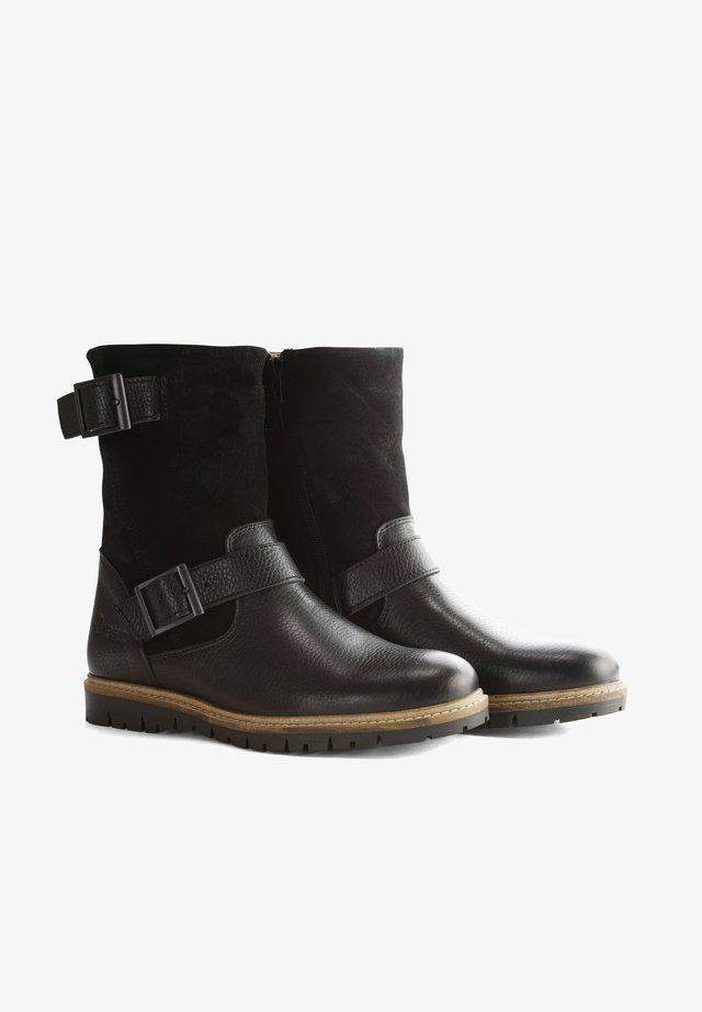 I.JONES - Cowboy/biker ankle boot - black