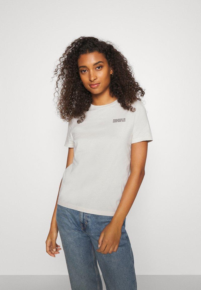 Wood Wood - ARIA - Basic T-shirt - dusty white