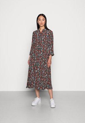 MUNTE ABOVE CALF DRESS  - Košilové šaty - black vibrant multicolor