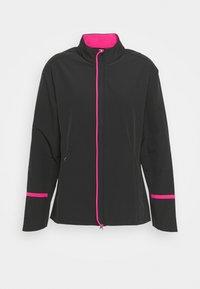 Callaway - FULL ZIP JACKET - Waterproof jacket - caviar/lilac rose pop - 3