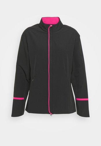 FULL ZIP JACKET - Waterproof jacket - caviar/lilac rose pop