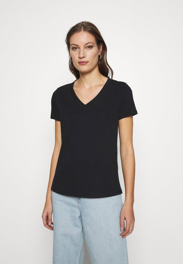 V NECK TEE - T-shirt basic - midnight