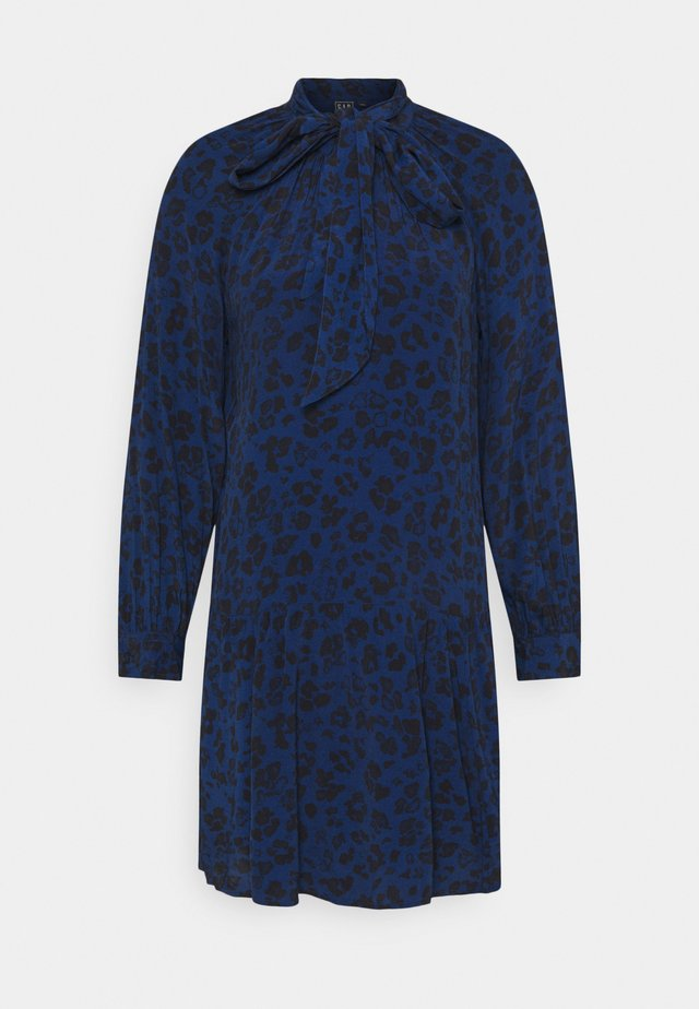 BOW DROP WAIST - Sukienka letnia - blue